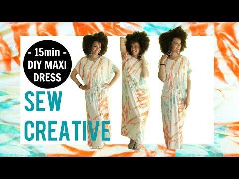 DIY Maxi Dress in 15min