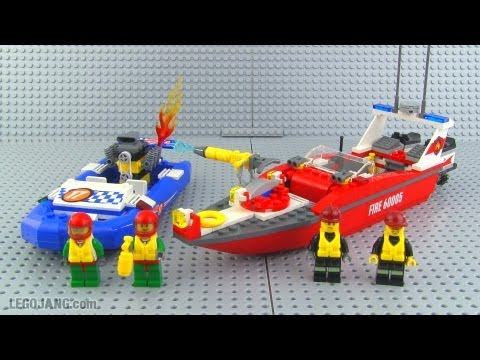 LEGO City Fire Boat 60005 build & review!