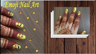 Emoji nail Art..........smileys emoji art.