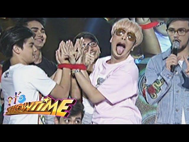 It's Showtime: Team Vice's wrists inside a wristband