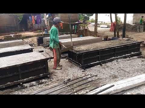 Proses Membuat Panel Beton untuk Pagar yang Cepat dan Berkualitas Beton yang baik