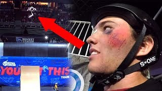 Went for the biggest trick of my life.. and crashed! (Nitro Circus Live)