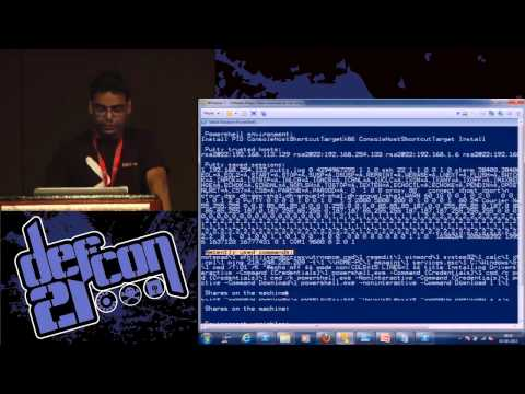 DEF CON 21 - Nikhil Mittal - PowerPreter Post Exploitation Like a Boss