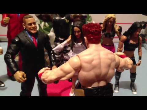 GTS WRESTLING: Holy Moly Matrimony!! Tag team title match WWE wrestling figure matches animation