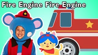 Fire Engine Fire Engine and More | CAT RESCUE MISSION | Nursery Rhymes from Mother Goose Club!