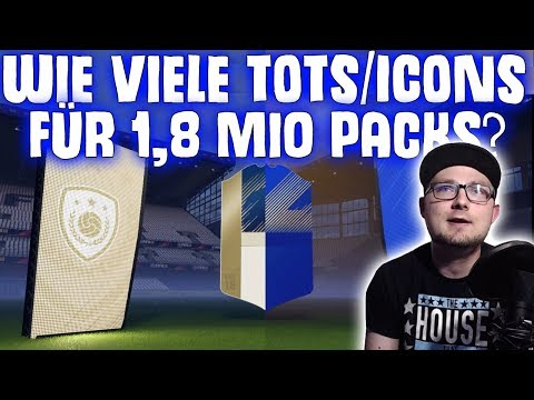 Wie viele TOTS & Ikonen ziehen wir aus Packs für 1,8 Mio Coins? | FIFA 18 Pack Opening  #047