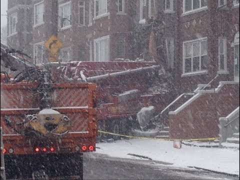 FDNY 10-60 Major Response To Fatal Accident - Truck Crashes Into Building Causing Collapse