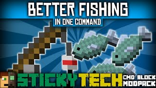 Minecraft - VISIBLE SWIMMING FISH! | Better Fishing In One Command  [StickyTech Cmd Block Modpack]