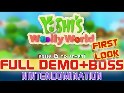 WiiU - Yoshi's Woolly World - Full DEMO + BOSS *Direct Feed*