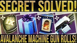 Destiny 2. SECRET RUNE SOLVED! Avalanche Machine Gun Rolls, All Dawning Recipes, New Loot & More!