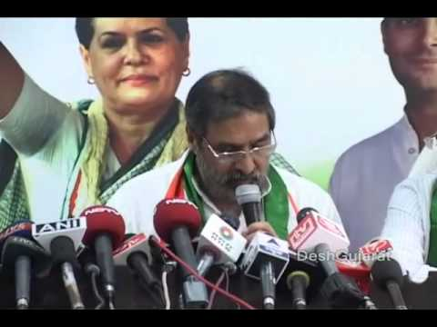 Congress minister Anand Sharma addresses media persons