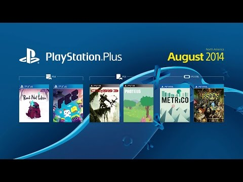 PS4 - PlayStation Plus - Free Games Trailer (August 2014)