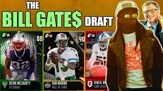 THE BILL GATES DRAFT! RICHEST PLAYER IN EVERY ROUND! Madden 19 Draft Champions Gameplay