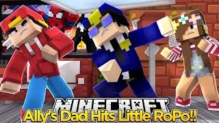 Minecraft Adventure - LITTLE ALLY'S DAD PUNCHES ROPO!!!