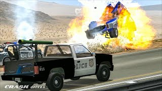 EPIC POLICE CHASES - Best Of #3 - BeamNG Drive Crashes