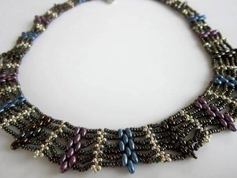 Superduo Beaded Necklace. Колье из бисера