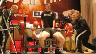 Andrew Belyaev total 950kg@96 only wraps
