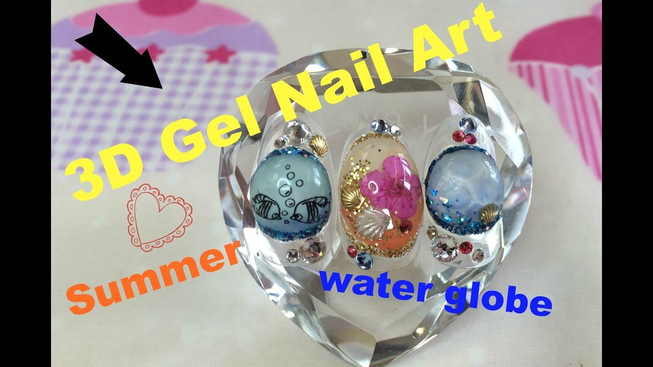 Water Globe Nails Holiday Water Globe Nails