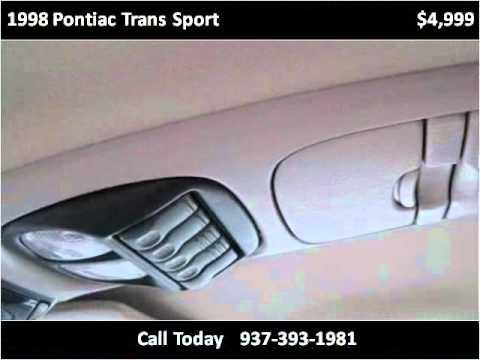 1998 Pontiac Trans Sport Used Cars Hillsboro OH