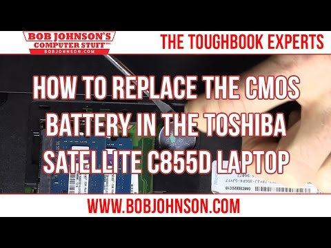 How to replace the CMOS Battery in the Toshiba Satellite C855D Laptop