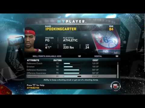 NBA 2K12 My Player Mode - My Attributes &amp; Info On The 2012 All-Star Weekend Feat. Athletic PG