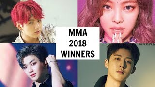 MELON MUSIC AWARDS 2018 WINNERS