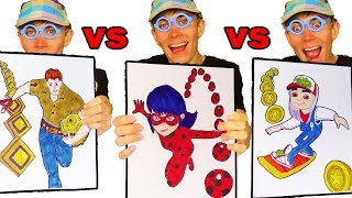 "WHICH ONE""S BETTER? 🐞 Subway Surfers VS Temple Run VS Miraculous Ladybug App Games Coloring Page"