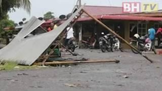 Lebih 10 rumah rosak akibat ribut
