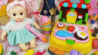 Baby Doll food cooking kitchen and Tooth Brush toys training play - 토이몽