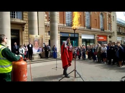 Beacon Lighting To Commemorate The Queen's 90th Birthday - Peterborough