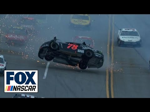 NASCAR Crash at Talladega - Kurt Busch Flips Car at Aaron's 499