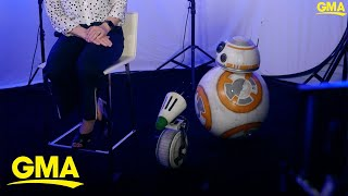 Lucasfilm President Kathleen Kennedy introduces new 'Star Wars' droid