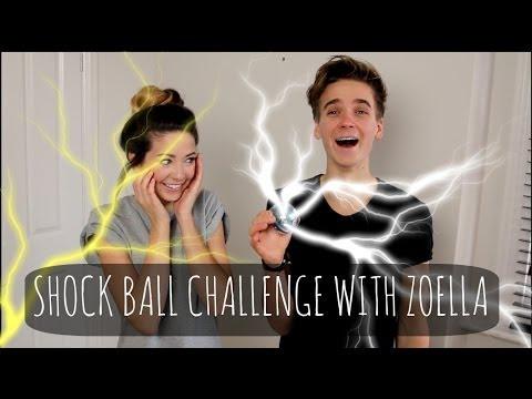 Shock Ball Challenge With Zoella! | ThatcherJoe