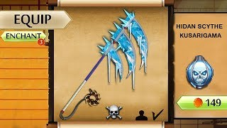Shadow Fight 2 The Most Dangerous Ice Spiky Hidan Scythe Kusarigama