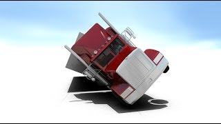 Tractor Rollover | High Wind | Amarillo Texas | A Virtual CRASH Simulation