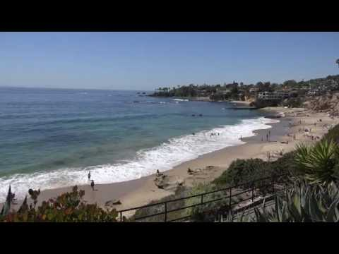 RELAXING BEACH VIDEO AT LAGUNA BEACh-  One Hour of Ocean Waves 4K ULTRA HD UHD