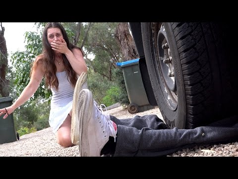 CRUSHED BY CAR PRANK!!
