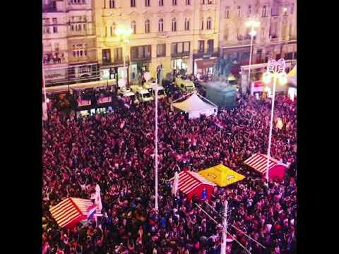 Croatian Fans party in Zagreb - England x Croatia Rússia 2018 thumbnail