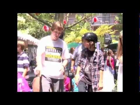 Jimmy Bennett 5 minute skateboarding lesson with Dan MacFarlane ( Orphan The Amityville Horror )