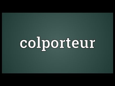Header of colporteur