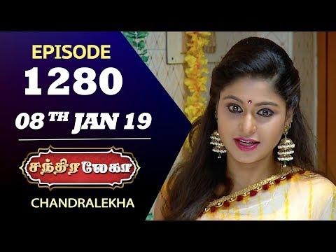 CHANDRALEKHA Serial | Episode 1280 | 08th Jan 2019 | Shwetha | Dhanush | Saregama TVShows Tamil