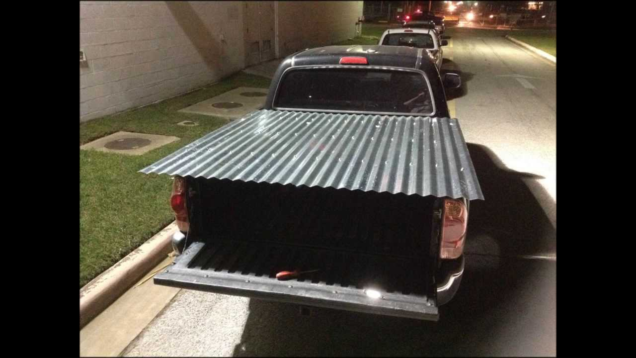 Redneck truck bed cover youtube for How to cover a bed