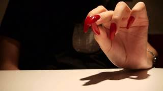 ASMR: Hand movements and rubbing with long nails and skinny fingers