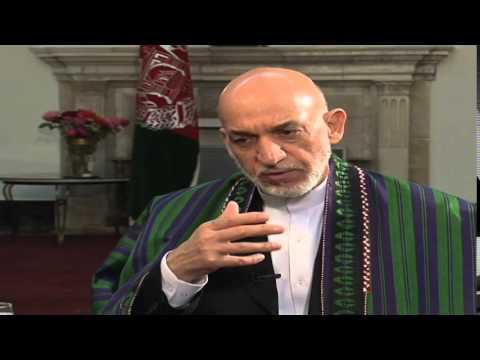 President Karzai Camparing Bush and Obama