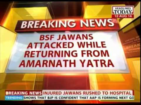 J&K: BSF convoy attacked in Pampore on Srinagar-Jammu highway