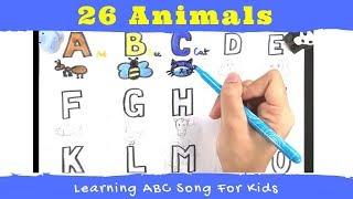 ABC songs Animals | Draw Animal with ABC for Kids 2018