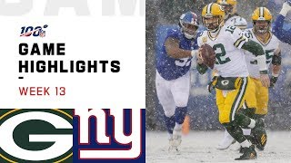 Packers vs. Giants Week 13 Highlights | NFL 2019