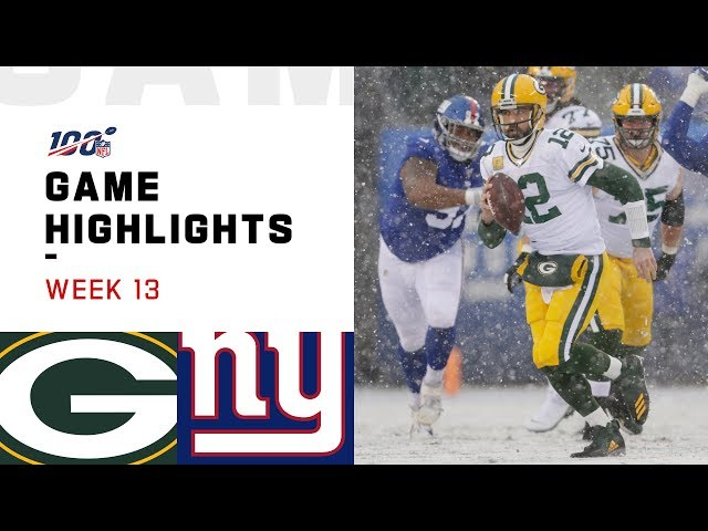 Packers vs. Giants Week 13 Highlights  NFL 2019