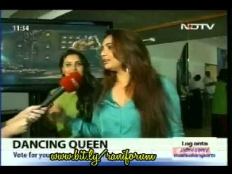Rani with Vaibhavi talking about Aga bai(Aiyyaa) belly dancing...
