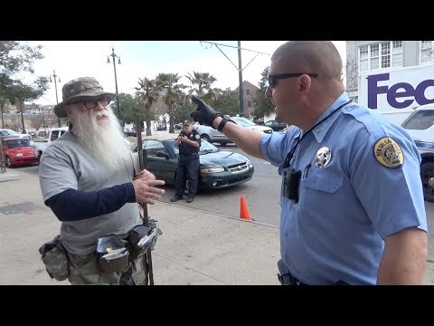 Ash Wednesday Outreach -  Bully cop breaks law!